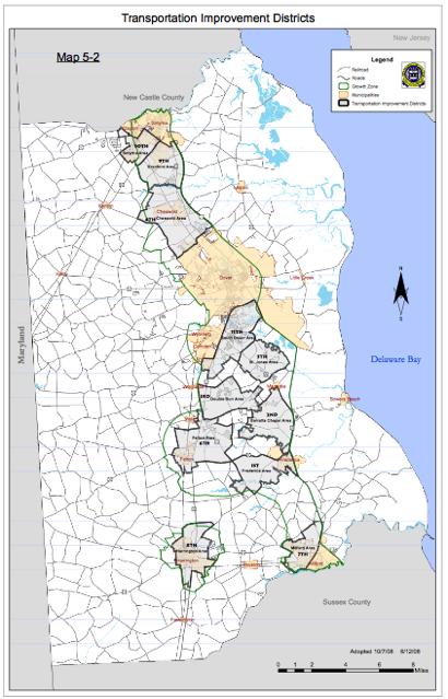 Map of Kent County, Del. TIDs