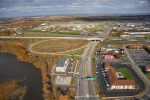 Aerial photo of TID near Dover airforce base