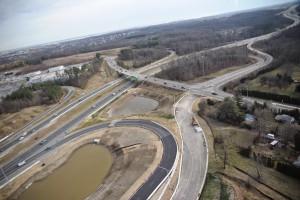 Aerial photo of the TID near Route 1 and 95 Corridor near Christiana Mall