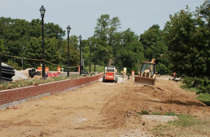 The Capital City Trail is under construction