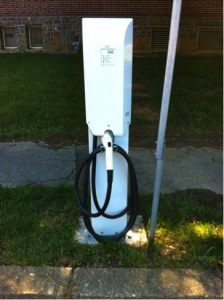 Electric vehicle charging stations at the Lewes Terminal