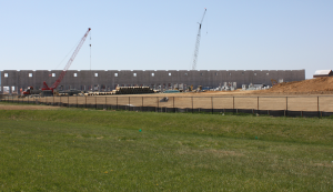 construction of the amazon middletown facility