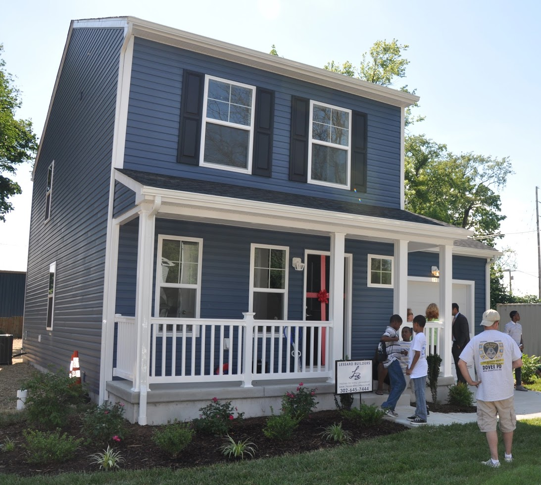 A new home built by Habitat for Humanity using Dover's Downtown Development District funding