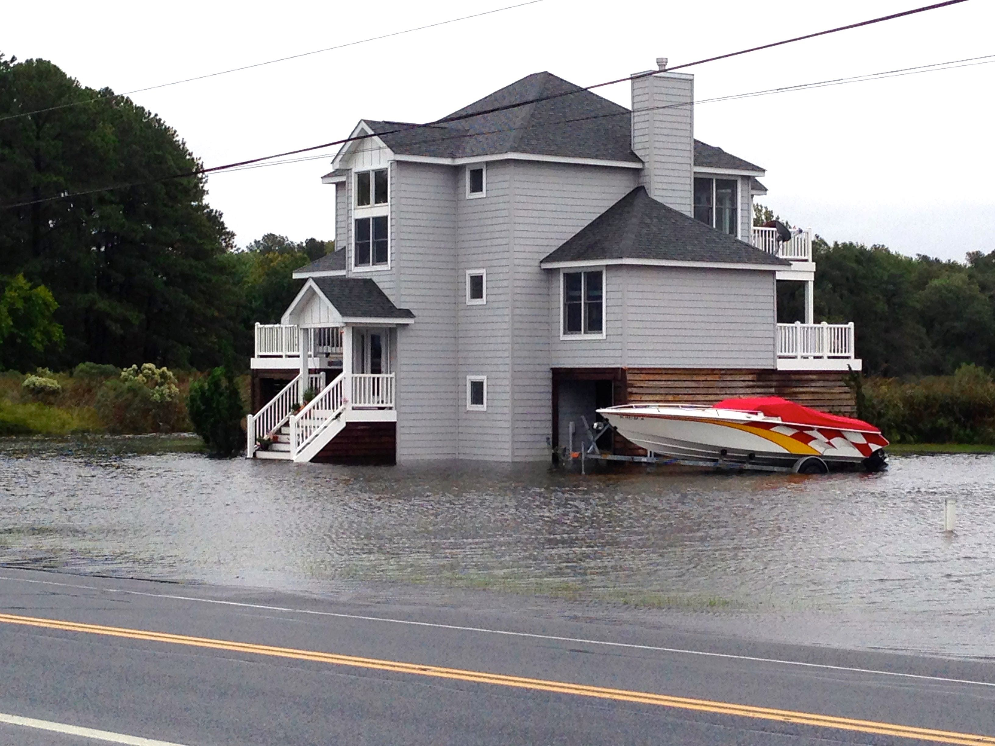Example of coastal flooding in Delaware