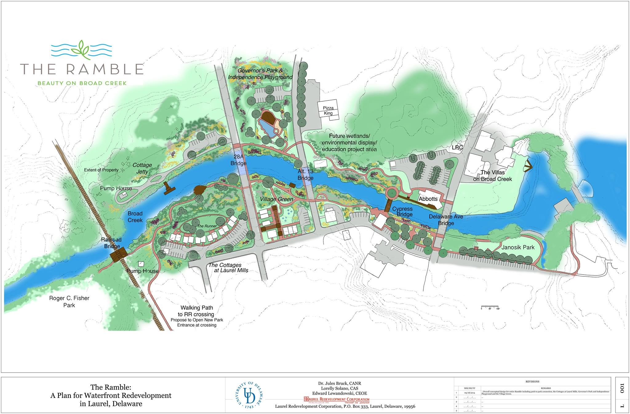 Proposal for revitalization in Laurel, Delaware