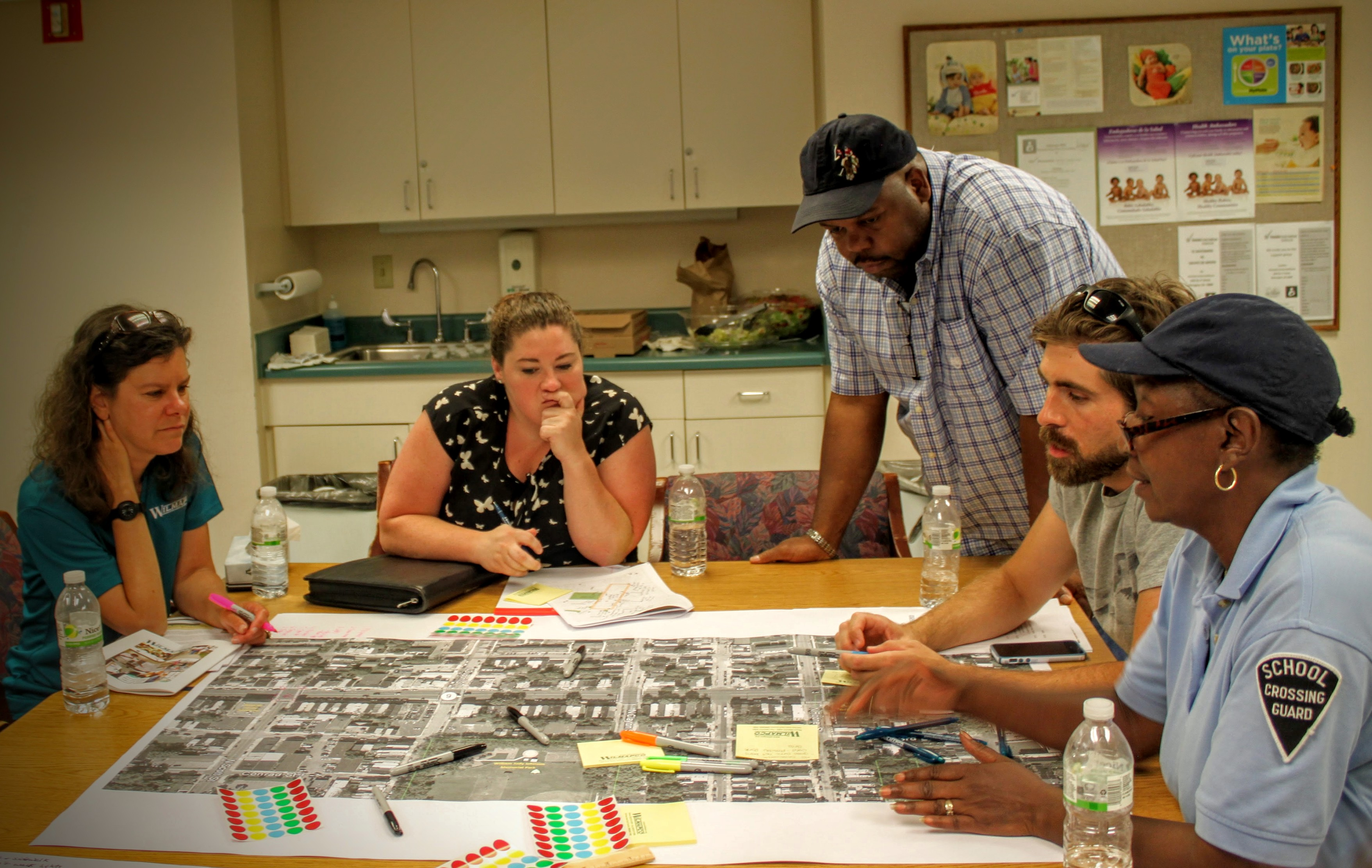 Participants discuss streets during WILMAPCO Walkable Workshop in June 2015