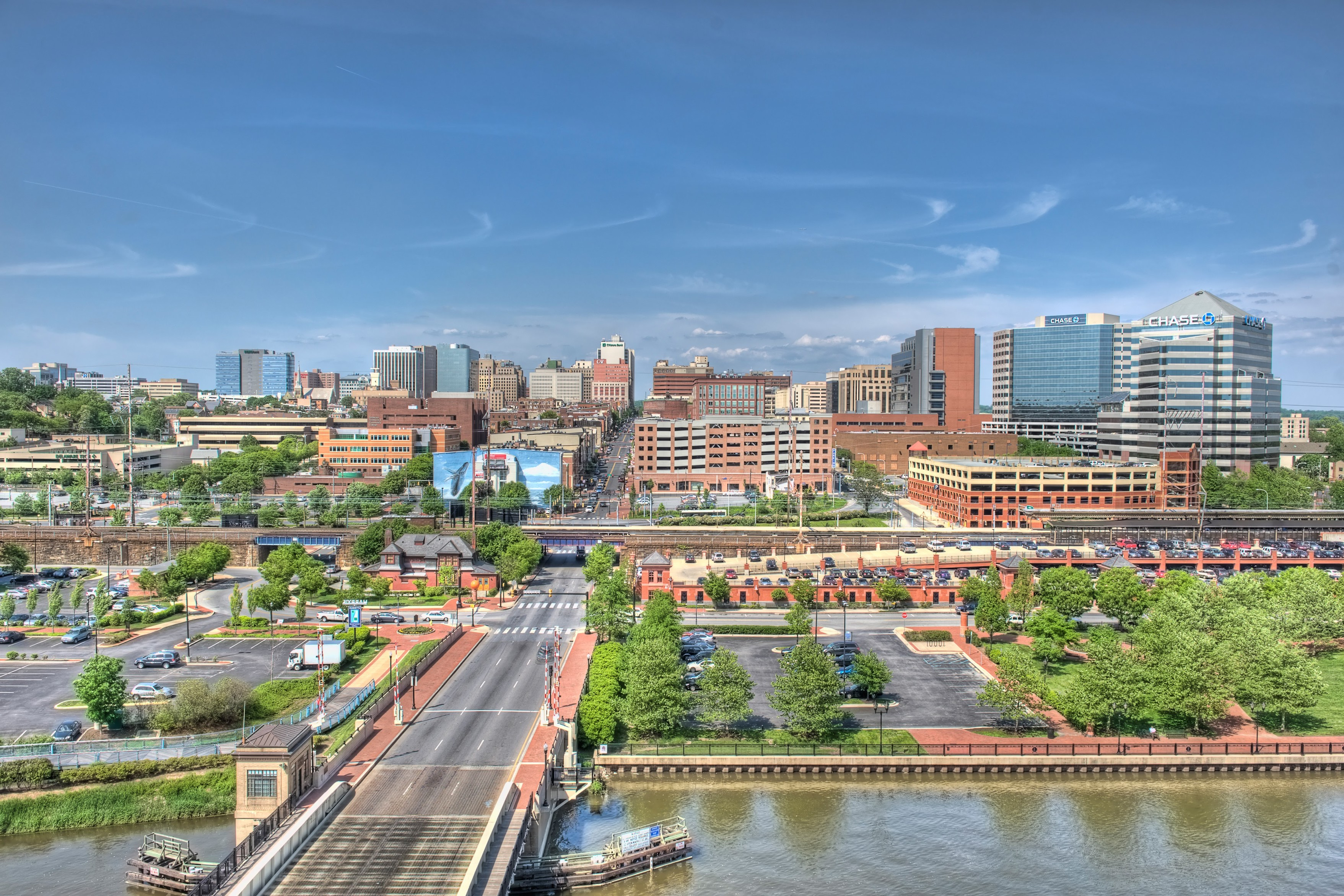 Aerial view of downtown Wilmington, Delaware