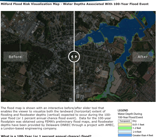 Image of Delaware Sea Grant Community Flood Visualization Map