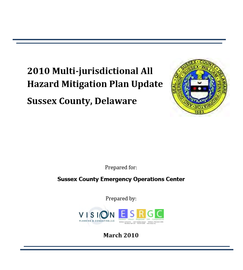 Image of Sussex County All Hazard Mitigation Plan
