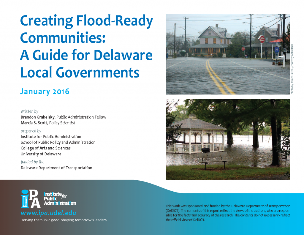 Cover of Creating  Flood-Ready Communities: A Guide for Delaware Local Governments