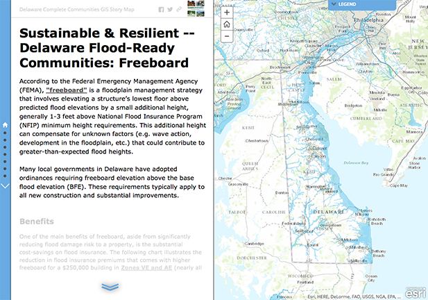 "This GIS StoryMap showcases ""freeboard"" as a tool to achieve a Sustainable and Resilient community."