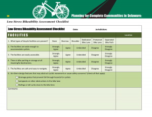 Cover of the Low-Stress Bikeability Assessment Checklist
