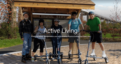 Screenshot of the Active Living Spark Page: Fostering Active Transportation and Incorporating Physical Activity Into Daily Life