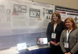Savannah Edwards and Marcia Scott present at the Transportation Research Board Conference in Washington, D.C.