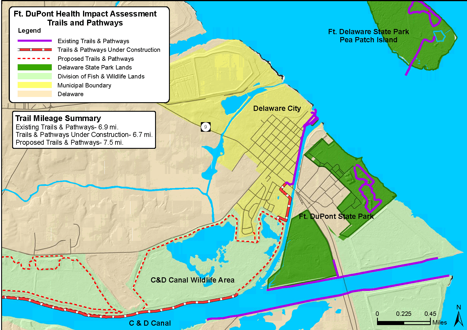 Fort DuPont Health Impact Assessment Trails and Pathways
