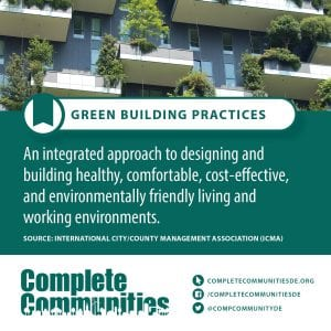 Green Building Practices: An integrated approach to designing and building healthy, comfortable, cost-effective, and environmentally friendly living and working environments.