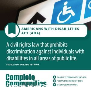 Americans with Disabilities Act (ADA): A civil rights law that prohibits discrimination against individuals with disabilities in all areas of public life.