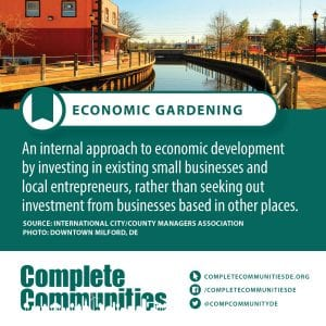 Economic Gardening: An internal approach to economic development by inversting in existing small businesses and local entrepreneurs, rather than seeking out investment from businesses based in other places.
