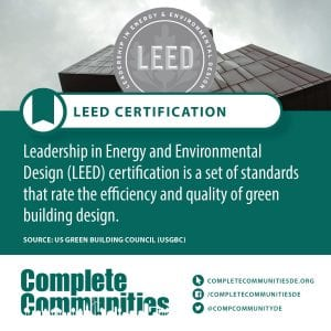 LEED Certification: Leadership in Energy and Environmental Design (LEED) certification is a set of standards that rate the efficiency and quality of green building design.