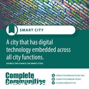 Smart City: A city that has digital technology embedded across all city functions.