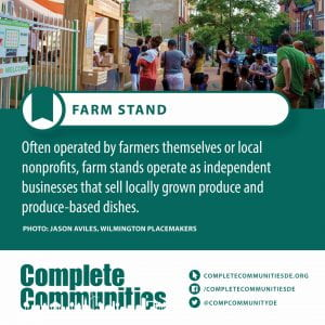 Farm Stand. Often operated by farmers themselves or local nonprofits, farm stands operate as independent businesses that sell locally grown produce and produce-based dishes.