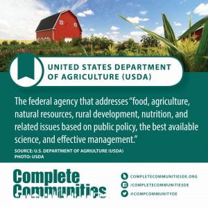 "United States Department of Agriculture (USDA). The federal agency that addresses ""food, agriculture, natural resources, rural development, nutrition, and related issues based on public policy, the best available science, and effective management."""