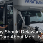 Screenshot of a video titled Why Should Delawareans Care About Mobility? Click on the image to open the full video in YouTube.