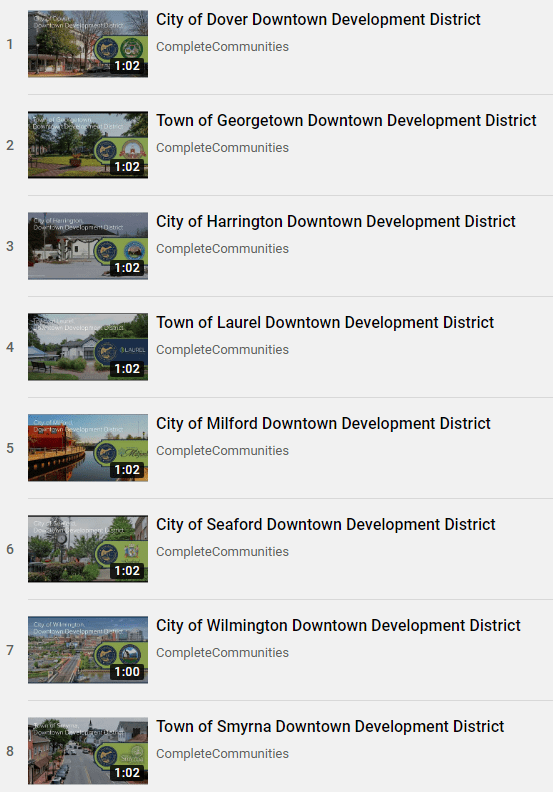 An image depicting a playlist of the eight DDD videos in our YouTube playlist. Click on the image to open the playlist on YouTube.