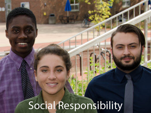 <b>Social Responsibility</b><br /><br />We help you recognize shared ethical values within our community, establish congruence between values and behaviors as well as their impact, develop an awareness of problems affecting your communities, and enrich your life through participation in civic, political or community activity.