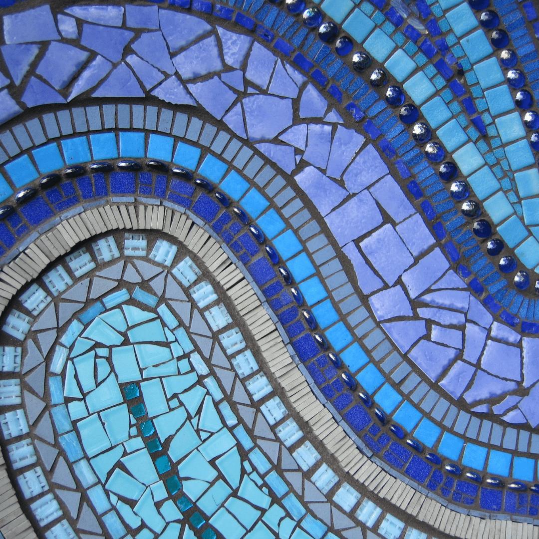 Blue Tile Mosaic