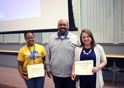 Danielle Whitaker and Kristin Rolnick each received 2019 UD Student Life Spotlight Awards for their dedication, passion and hard work in support of Residence Life and Housing and the Division of Student Life.