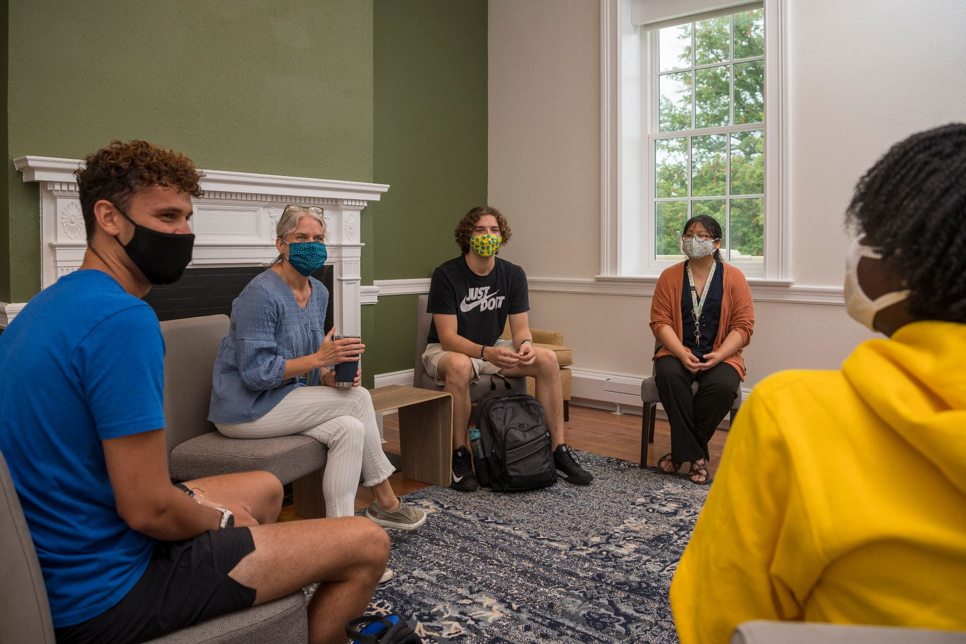 Students and staff connect at University of Delaware Wellbeing Center in Warner Hall