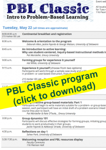 PBL Classic program (PDF file)