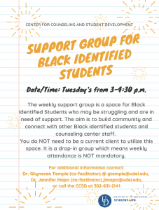 Black student support group Fall 20
