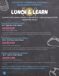 Lunch and Learn September 2020