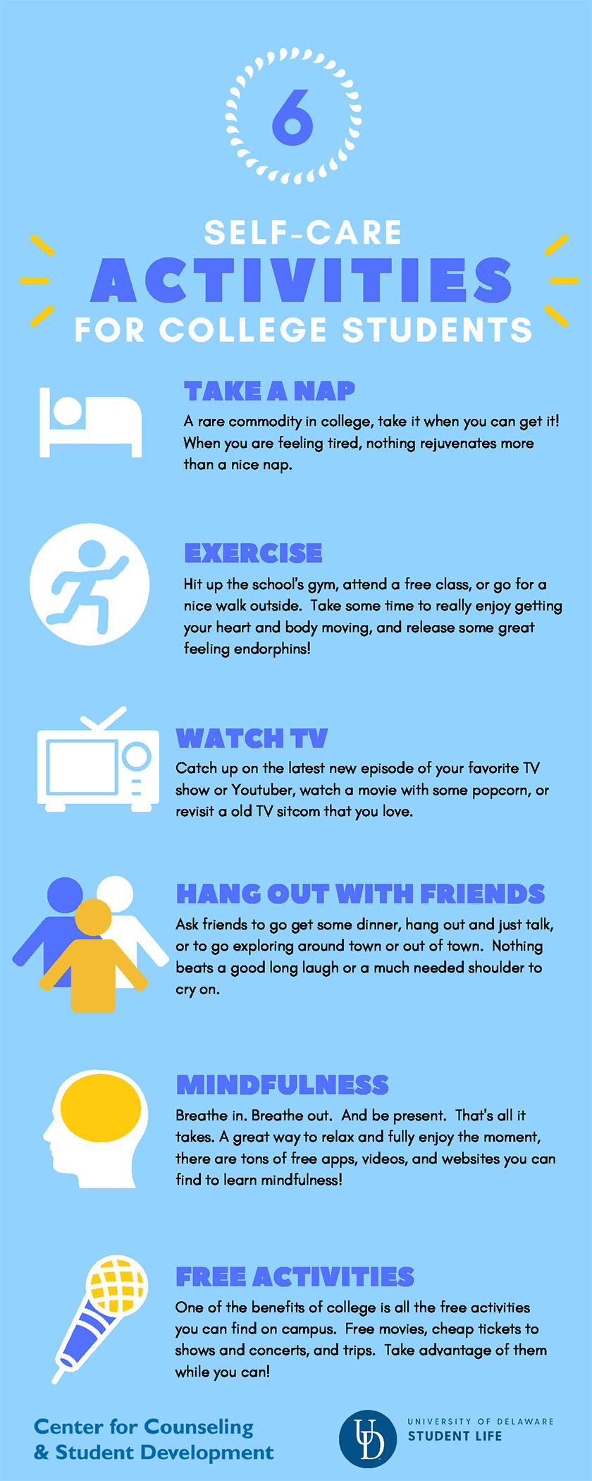 self care tips and activities for broke college students