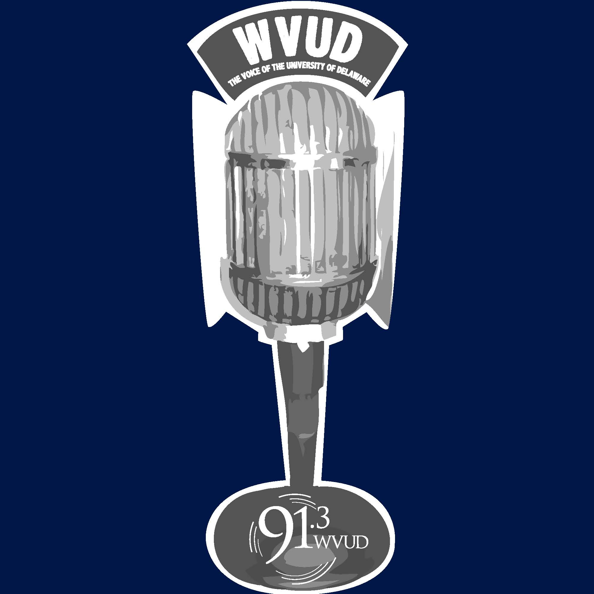 WVUD Blue T-shirt with 'Classy' microphone (back art)   $65