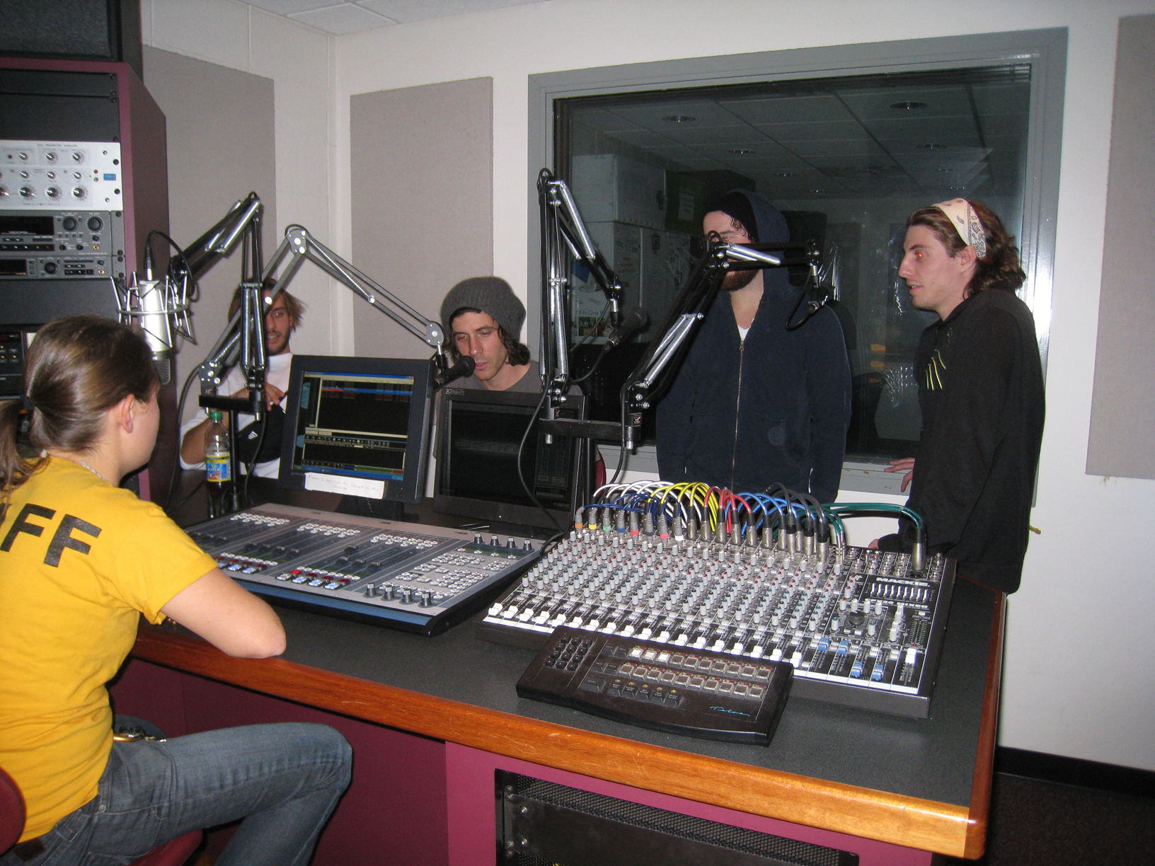 Three Legged Fox visit the studio after their set