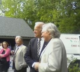 Scott Birney with Joe Biden