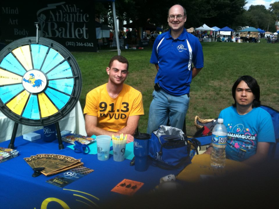 Tony Minervini (Friday Student Block), Jeff Ramberg (Monday Java Time) and Sean Kelley working the Community Day table