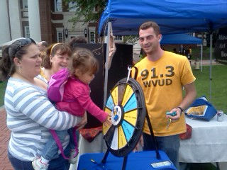 Everybody wins with the WVUD Prize Wheel!