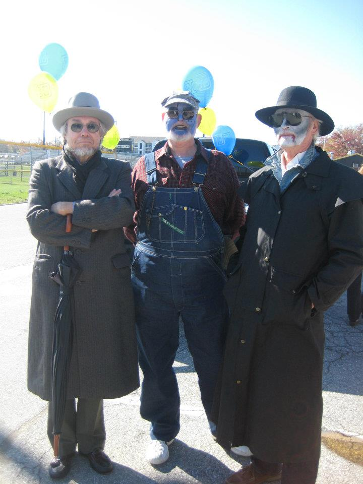 Michael Foster, Dave Desmond, and Joe Lattomus in costume.