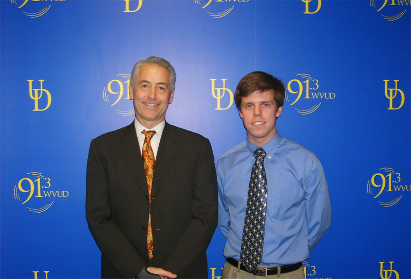 Vice President of Student Life, Michael Gilbert with Scott Ohlmacher