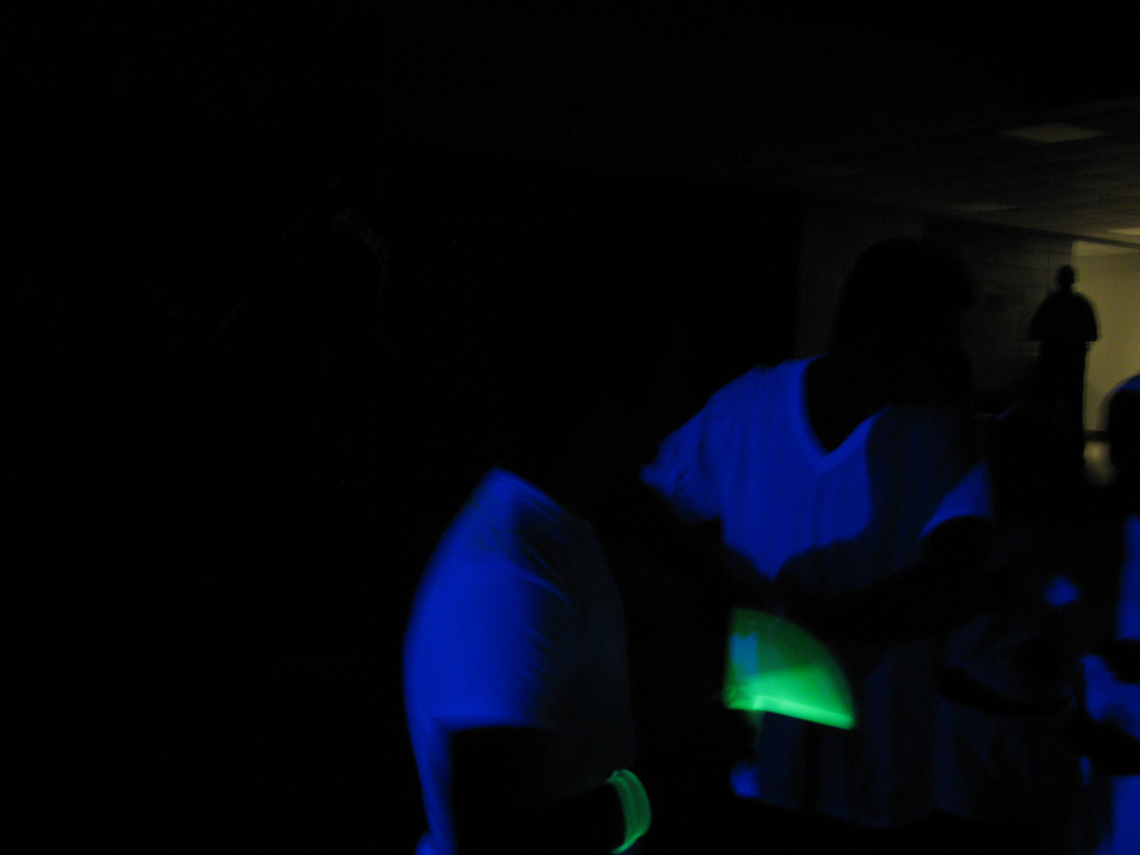unveiling the new BASEMENT radio station with a blacklight /highlighter party.