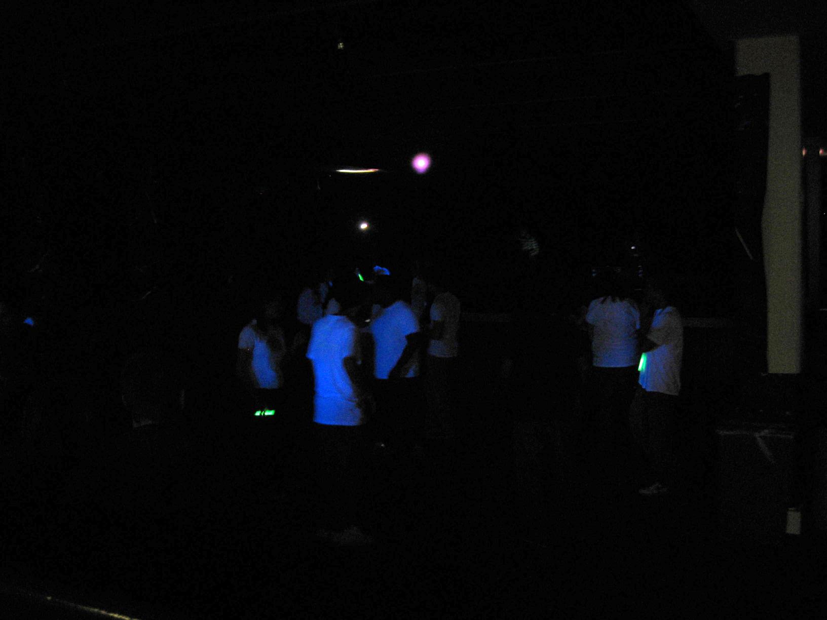 spooky glowing people!