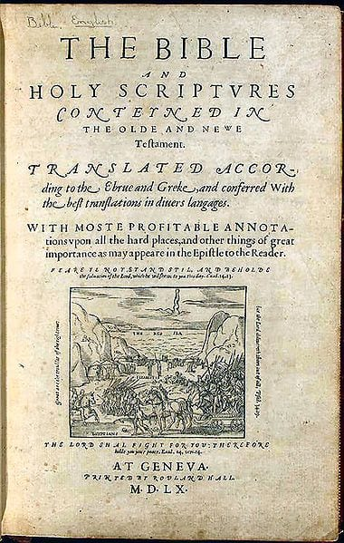 The Geneva Bible, a 1560 edition