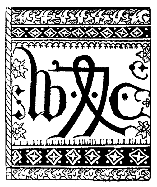 The printer's device of William Caxton