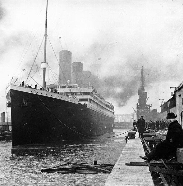 """The Titanic was the inspiration for Hardy's poem """"The Convergence of the Twain."""""""