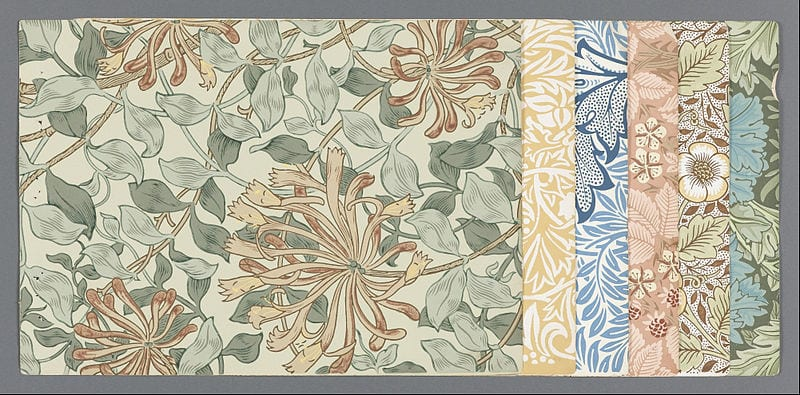 Morris & Co. wallpaper sample from 1887 (Morris and Co.)