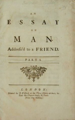 An Essay on Man | British Literature Wiki